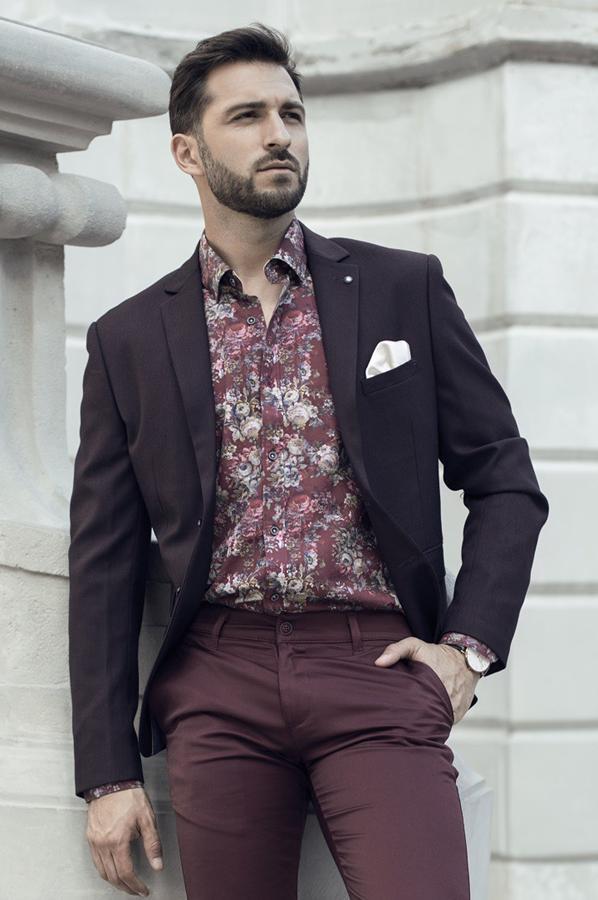 Koszule męskie w kwiaty - Fashion